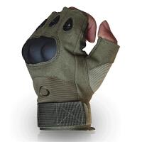 半指手套格斗半指手套黑鹰半截男士战术防割户外运动训练 X