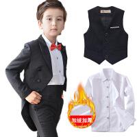 儿童礼服男童燕尾服花童婚礼主持人西装套装小孩宝宝钢琴表演出服