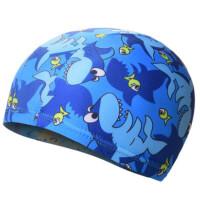 儿童泳帽卡通图案幼儿园男女童宝宝泳帽护发布泳帽