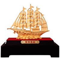 一帆风顺帆船摆件绒沙金工艺品办公室电视柜装饰品商务万博客户端最新版