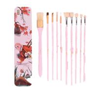 水粉笔套装10支装油画水彩颜料美术水粉画笔套装