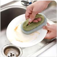 清洁擦 带手柄去污海绵擦厨房碗碟刷地板瓷砖除垢清洁擦