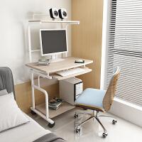迷你电脑桌简约现代书桌 小户型台式办公桌 可移动双层桌子家用 套餐三【+椅】