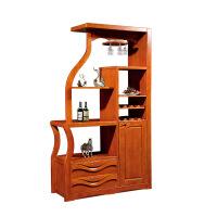 简约现代实木玄关柜 实木客厅间厅柜红酒柜 实木酒柜客厅实木家具 胡桃色 1170X400X2000mm