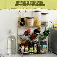 【满减】欧润哲 不锈钢双层大号酱油瓶厨房收纳置物架 调料架储物架