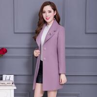 2017秋冬装新款韩版修身中长款女士中年加厚毛呢外套妮子呢子大衣