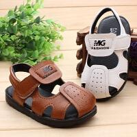 夏季宝宝凉鞋2-3岁女小童鞋子男幼儿童凉鞋3岁包头软底学步凉鞋