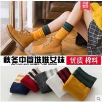 堆堆袜子女士纯棉袜户外新品韩国学院风日系可爱运动防臭中筒袜长袜