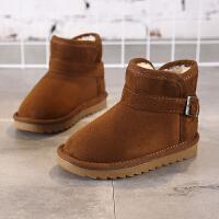 儿童雪地靴冬季新款百搭男童加绒棉鞋