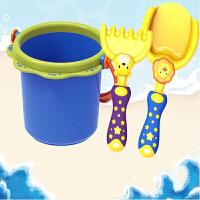 男孩益之宝儿童沙滩玩具套装大号宝宝洗澡挖沙铲子桶沙漏花洒工具组合 益智启蒙早教