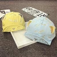 宝宝帽子夏天鸭舌帽男女童春秋棒球帽遮阳帽婴儿帽6-12-24个月潮