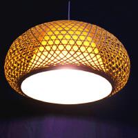 【南充馆】蘑菇形竹编吊灯灯笼 含灯泡含线 高25cm 外直径44cm 竹制手工艺品