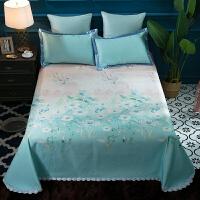 夏季冰丝凉席1.8m床可水洗床单空调软席三件套蕾丝花边双人床席子