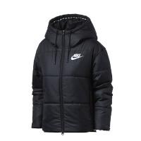 Nike耐克女装棉服2018冬季新款休闲短款连帽保暖夹克外套869259