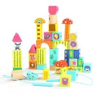 穿线绕珠串珠儿童玩具3-6岁一岁女宝宝女孩益智1-2岁启蒙