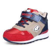 史努比童鞋冬季大棉保暖儿童运动鞋时尚防滑儿童棉鞋中小童鞋