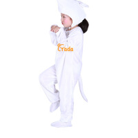 宝宝表演白老鼠儿童演出服女跳舞蹈衣冬小老鼠动物造型服装套装男春秋季