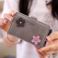 韩版女士小卡包放卡多卡位可爱*夹个性卡片包迷你简约潮 灰色