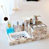 家居卫浴套件洗漱用品套装摆件 别墅样板房浴室卫生间装饰品摆设