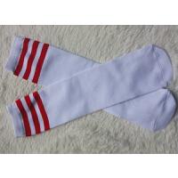 棉长筒袜过膝袜女日系学生学院风黑白色高筒春秋运动袜子 底+红条