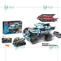 积木3419科技系列组儿童玩具惯性汽车回力车341134153420