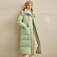 【券后价:634元】Amii极简奢华温暖chic羽绒服女2019冬新90白鸭绒带帽口袋上衣外套