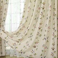 飘窗窗帘成品定制飘窗窗帘棉麻亚麻布料清新田园成品窗帘客厅卧室