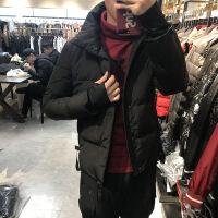 2018秋季新款反季节羽绒服男轻薄红色短款夹克帅气韩版潮流2018冬款保暖外套潮