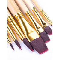 水粉笔水彩画笔尼龙笔油画笔丙烯画笔套装初学者成人手绘绘画专业美术笔8支装画画套装儿童颜料学生批发