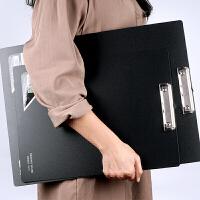 A3文件夹4K横式绘图板夹8K速写板美术写生素描板写字板试卷夹A3板夹