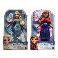 正版芭比娃娃迪士尼公主冰雪奇缘之安娜艾莎CBC63女孩玩具礼物 30-50厘米