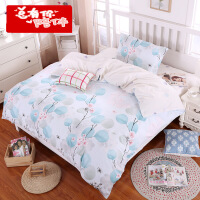 【支持礼品卡】纯棉三件套全棉床品套件1m床上用品1.5米被套床单学生宿舍 y6w