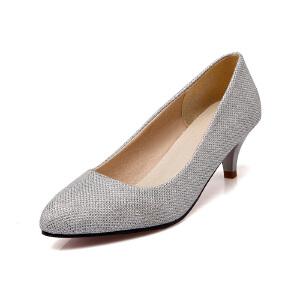 ELEISE美国艾蕾莎新品150-15-13韩版特殊料低跟女士单鞋