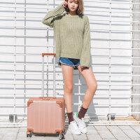 小型行李箱女韩版短途拉杆箱横款登机箱18寸密码箱16寸迷你旅行箱