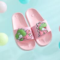�和��鐾闲�女夏男童�底防滑中大童家居家用卡通防臭小孩洗澡拖鞋