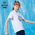 诺诗兰童装儿童短袖男童2021夏季新款排汗快干透气中大童T恤半袖