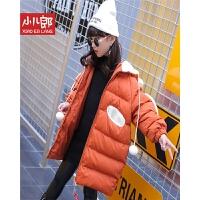 女童冬装棉衣2017新款韩版中大儿童棉袄加厚时尚中长款外套潮 cw9220