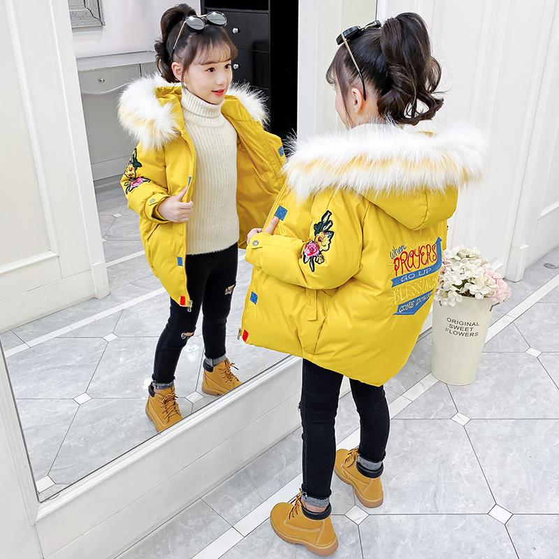 女童棉衣冬装洋气外套儿童羽绒冬季