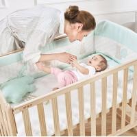 gb好孩子婴儿床拼接大床实木宝宝新生多功能松木儿童床拼接bb木床