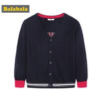巴拉巴拉男童毛衣中大童开衫秋装2018新款儿童线衣V领学院风外套