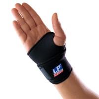 LP欧比护腕单片式腕关节缠绕护套726 腕关节半指健身手套护具 单只