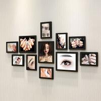 美甲照片墙贴纸会所壁画美容院化妆品店背景墙装饰相框墙挂画海报 A3寸3个 10寸8个