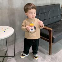 板牙妈男童长袖T恤春装春秋季婴儿童装宝宝1岁小童上衣打底衫洋气