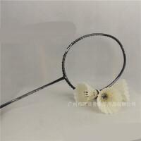 羽毛球拍套装可拉32磅球拍碳纤维羽毛球拍文体用品 黑色