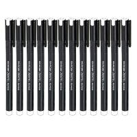 爱好 全针管中性笔 黑色0.5mm(12支装)水笔/签字笔/碳素笔 8620当当自营