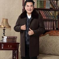 中年爸爸棉衣外套男士40-50岁冬天风衣中老年人60呢子大衣70冬装