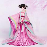 娃娃文成公主引蝶特色刺绣女孩玩具儿童礼物可脱卸