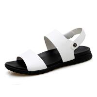 新百伦支撑2018新款男鞋子透气休闲沙滩鞋个性罗马鞋夏季凉鞋韩版潮鞋皮凉鞋