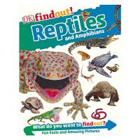 【首页抢券300-100】DK Findout Reptiles and Amphibians DK出版社发现系列 爬行