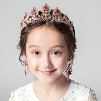 女童生日礼服发箍皇冠花童婚纱王冠水钻配饰女儿童公主裙发饰头箍